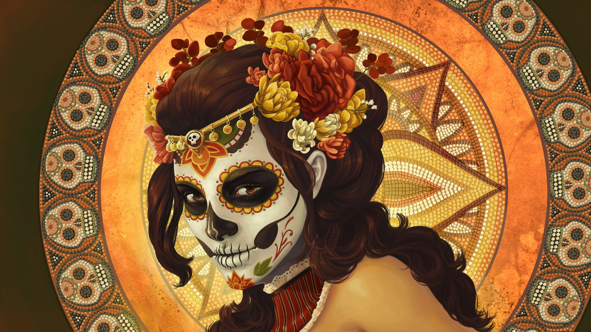 101 Sugar Skull Hd Wallpapers Background Images