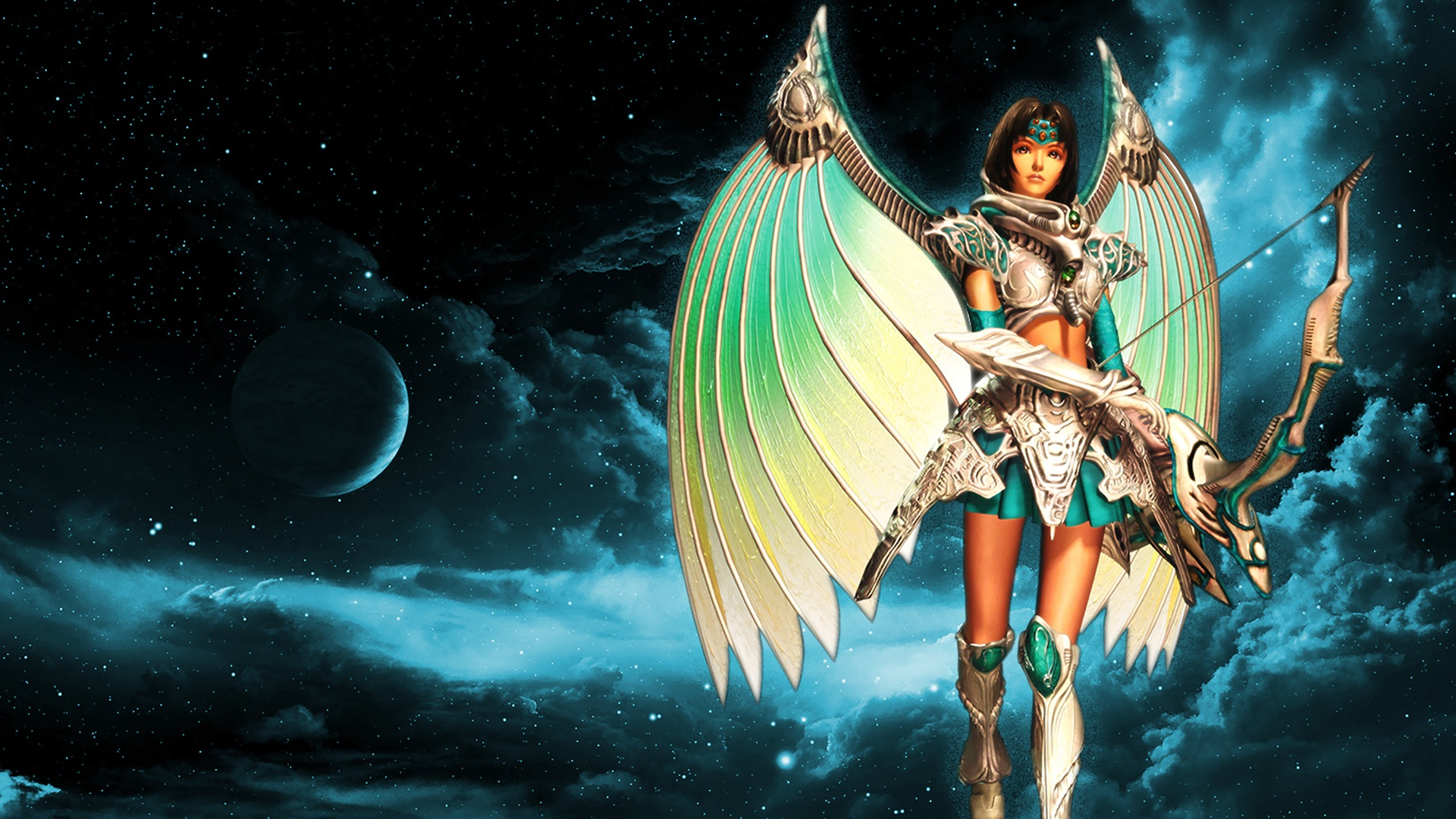 Video Game - Legend Of Dragoon  Fantasy Angel Warrior Archer Bow Wallpaper