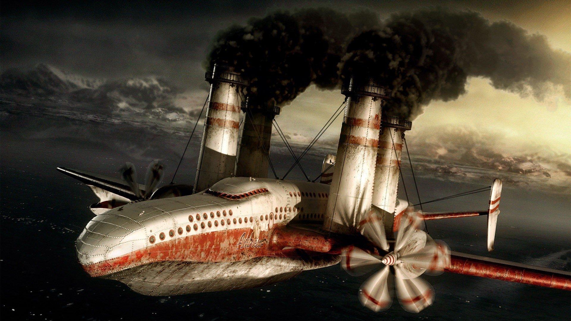 Sci Fi - Steampunk  Airplane Aircraft Wallpaper