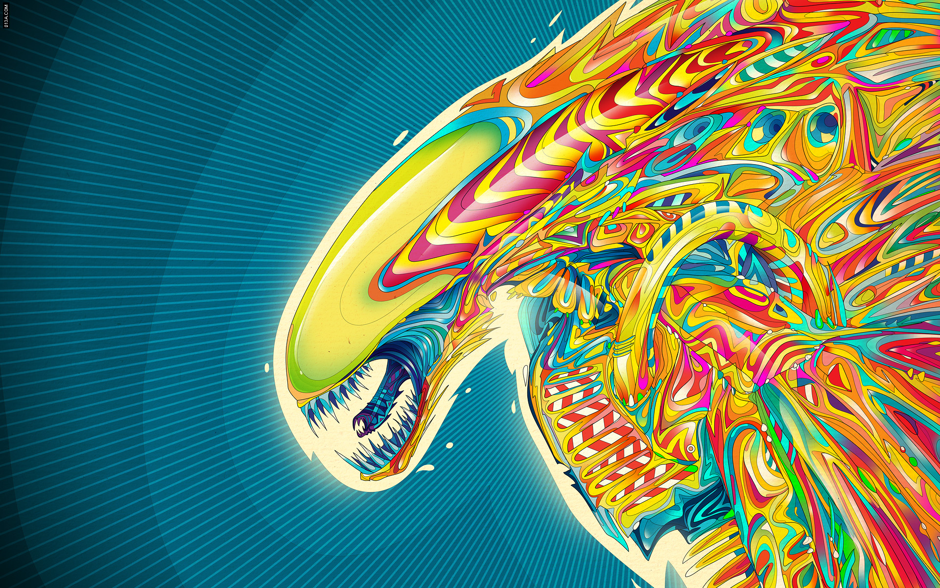 art aliens psychedelic - photo #11