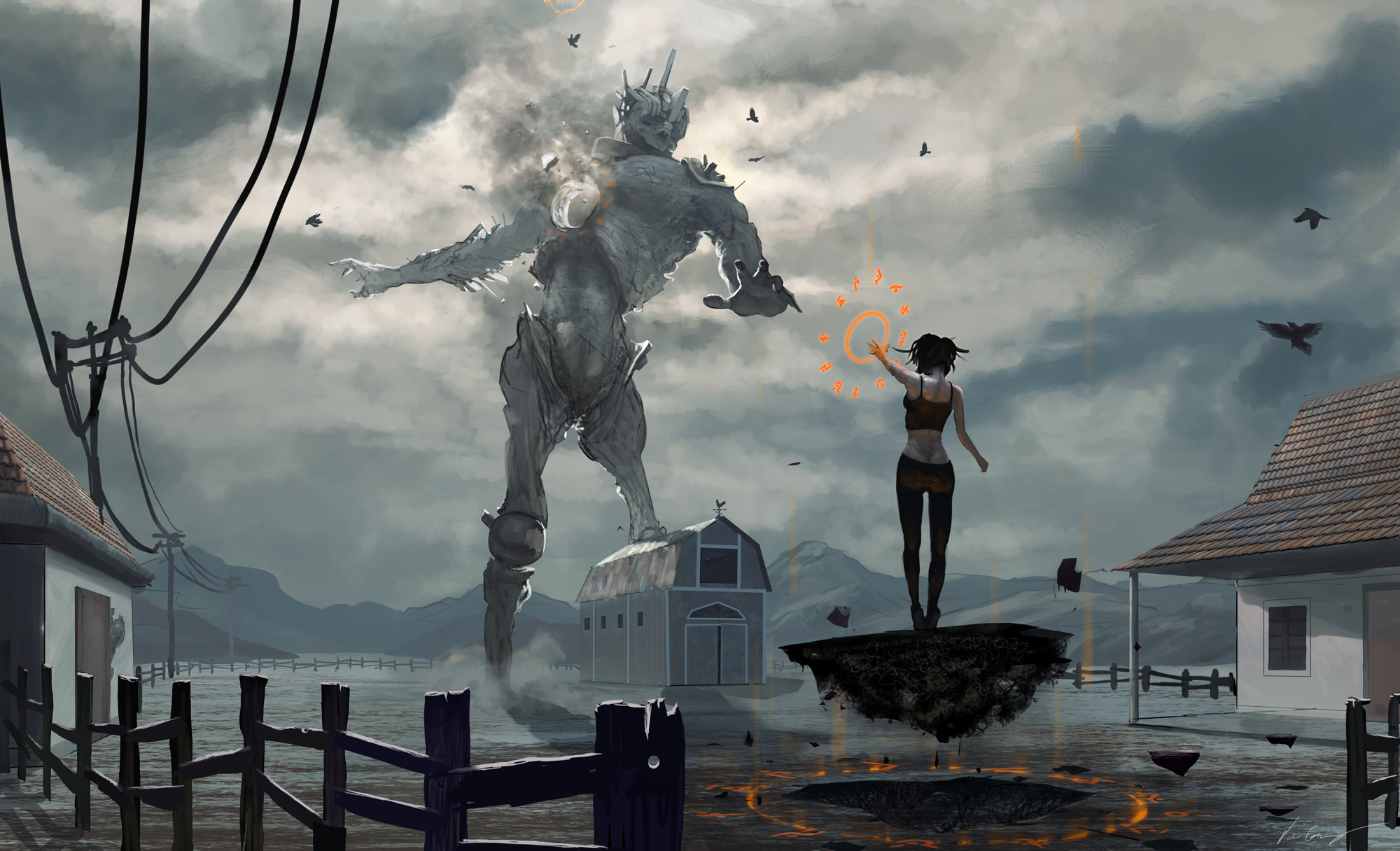 Fantasy - Witch  Robot Sci Fi Wallpaper