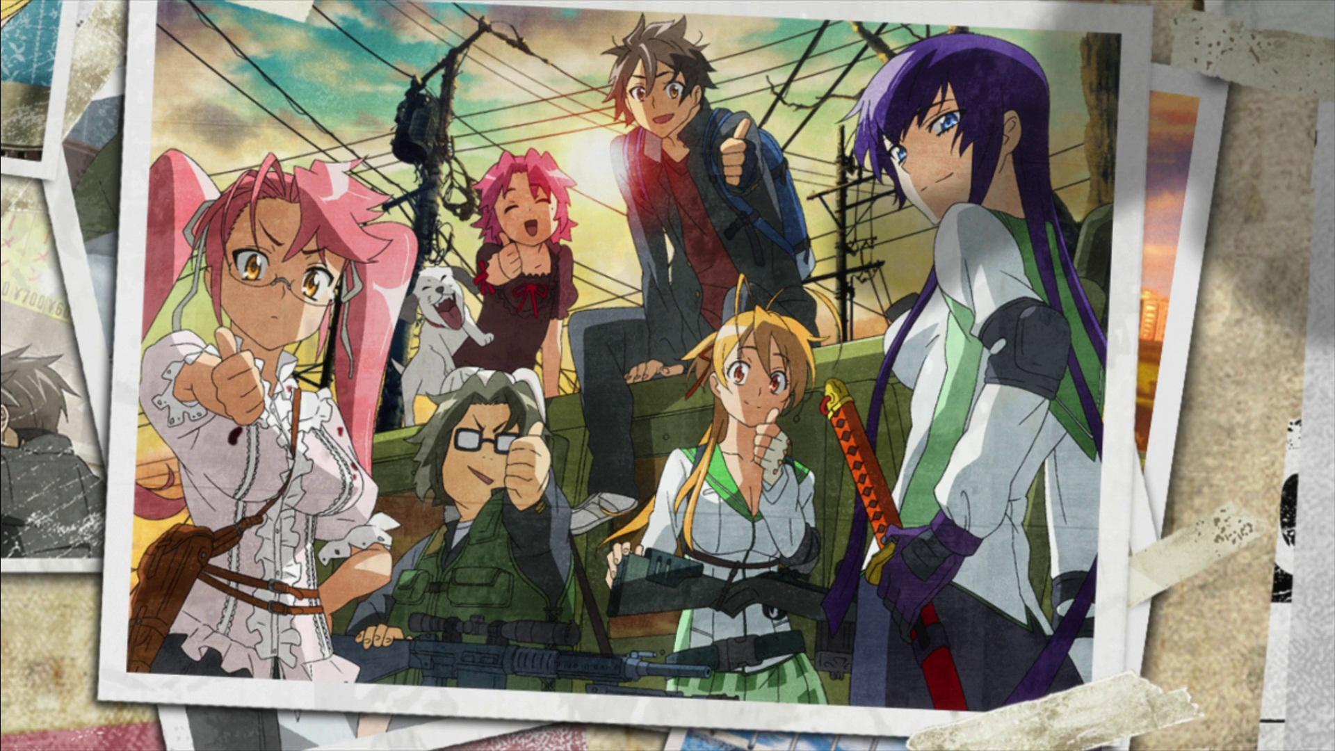 Anime Zombie Characters : Highschool of the dead computer wallpapers desktop