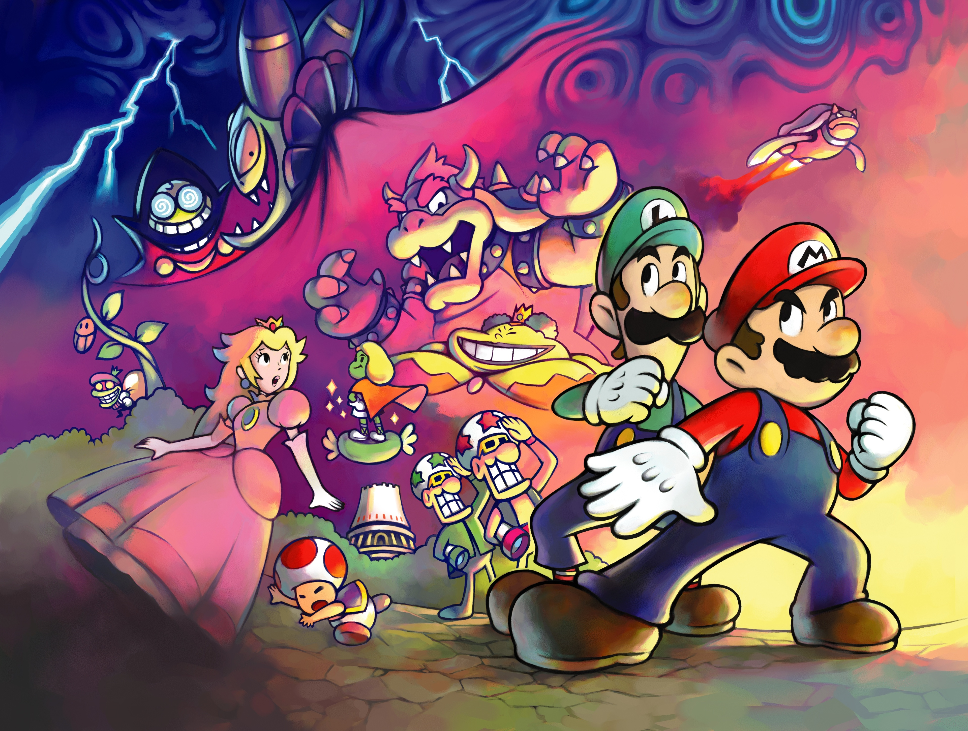 Mario luigi superstar saga 4k ultra hd wallpaper and background video game mario luigi superstar saga bowser princess peach luigi toad mario altavistaventures Gallery