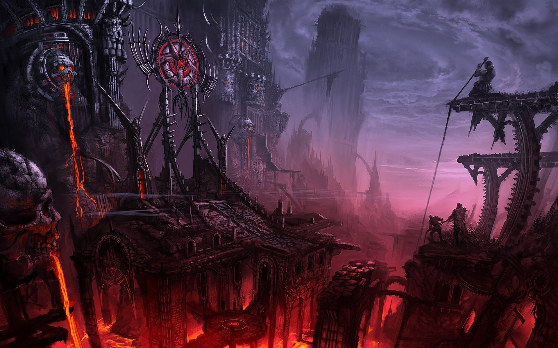 Castle of Hell Full HD Wallpaper and Background