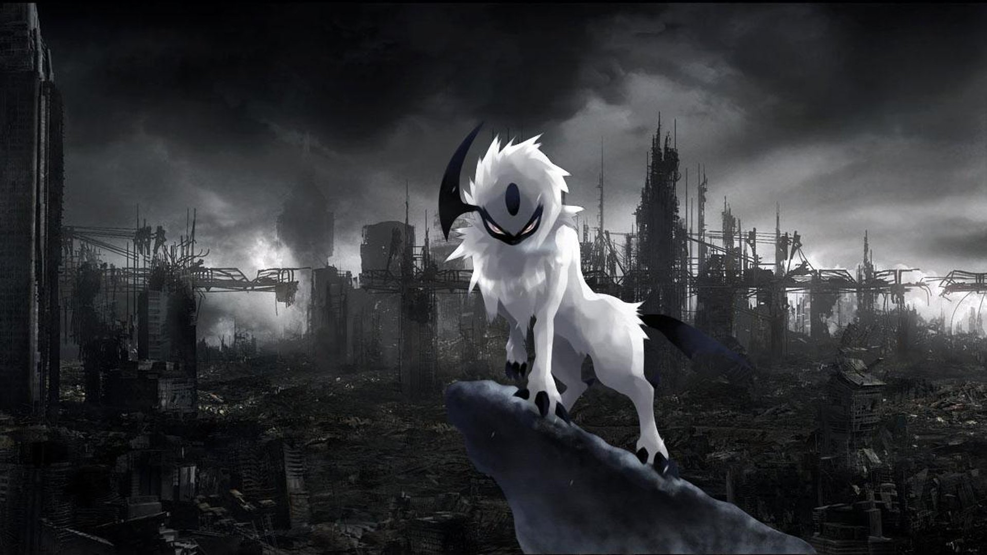 Anime - Pokémon  Absol (Pokémon) Dark Pokémon Wallpaper
