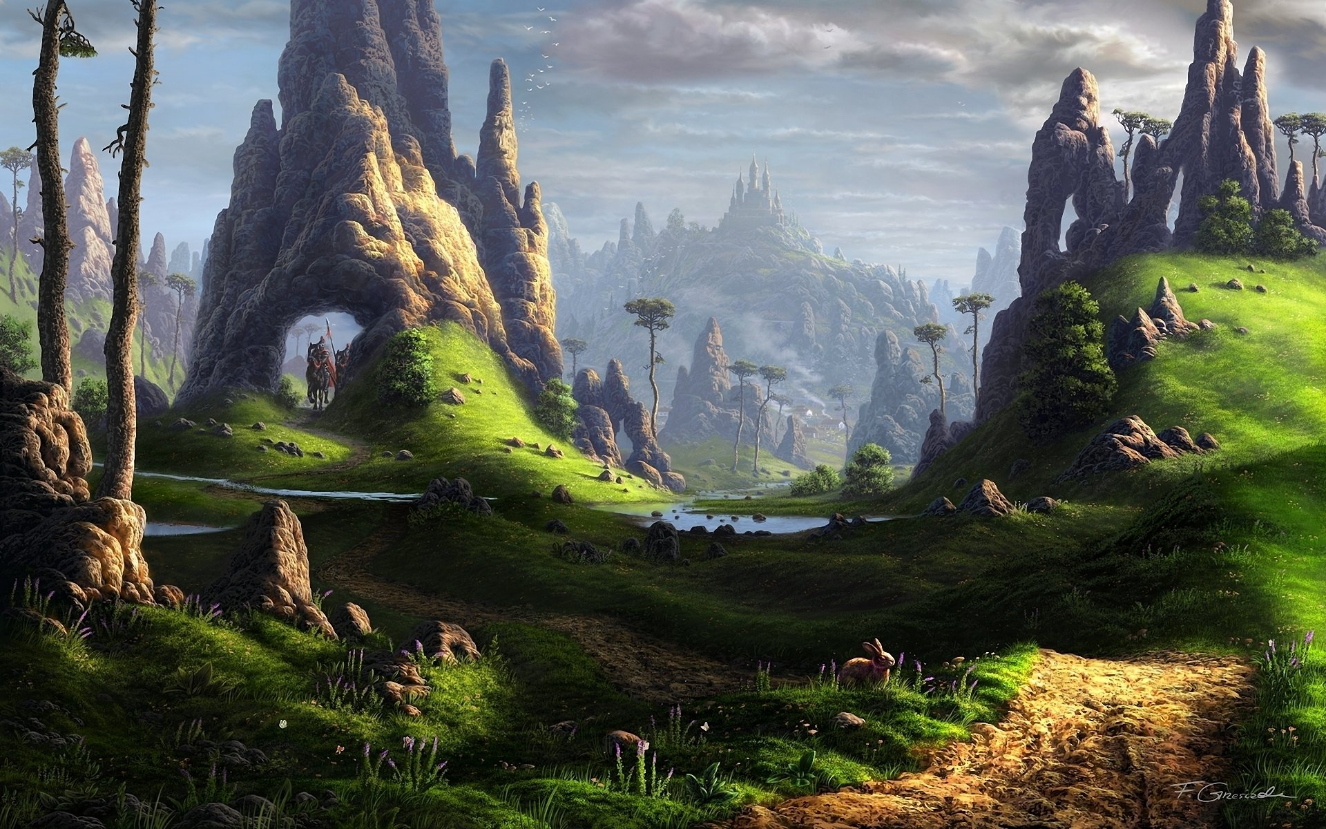 Absolutely Fantastic Hd Fantasy Wallpapers: Landscape HD Wallpaper