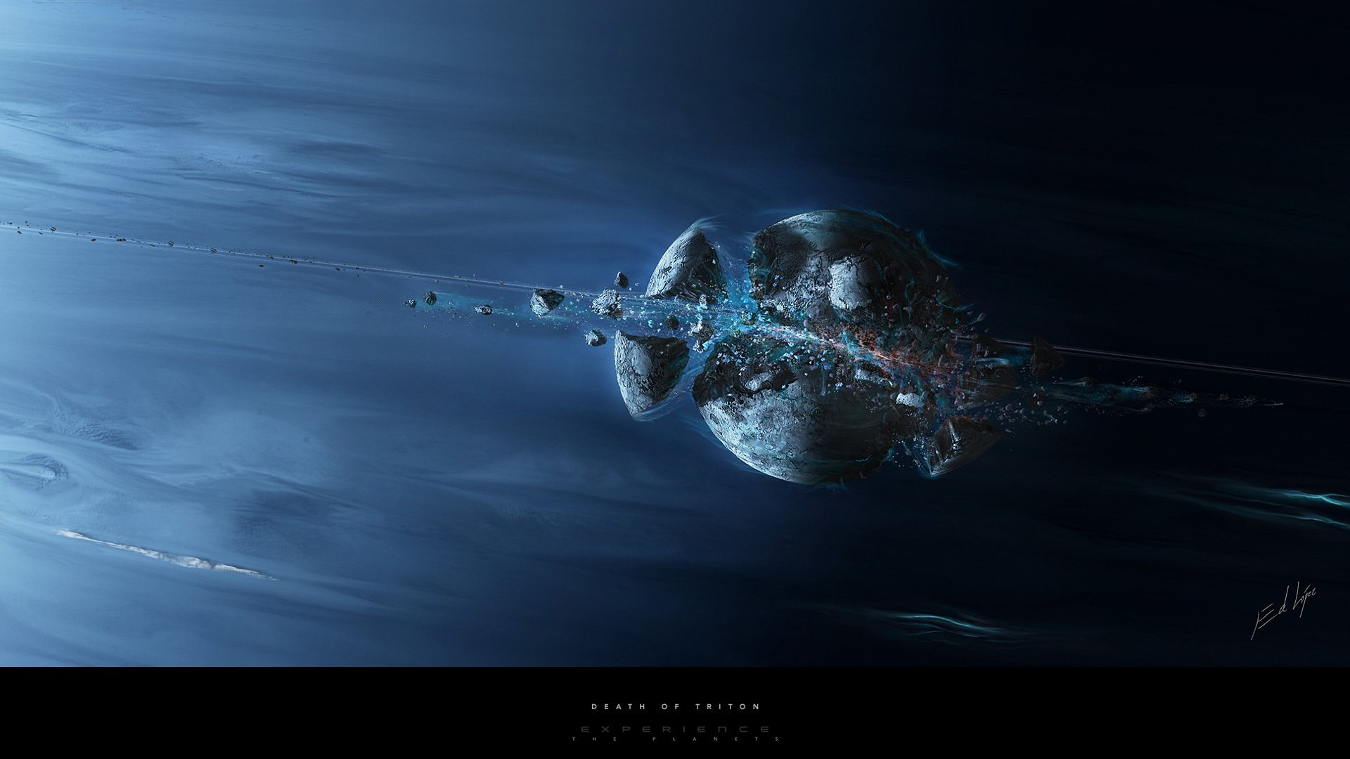 Sci Fi - Artistic  Space Asteroid Planet Wallpaper