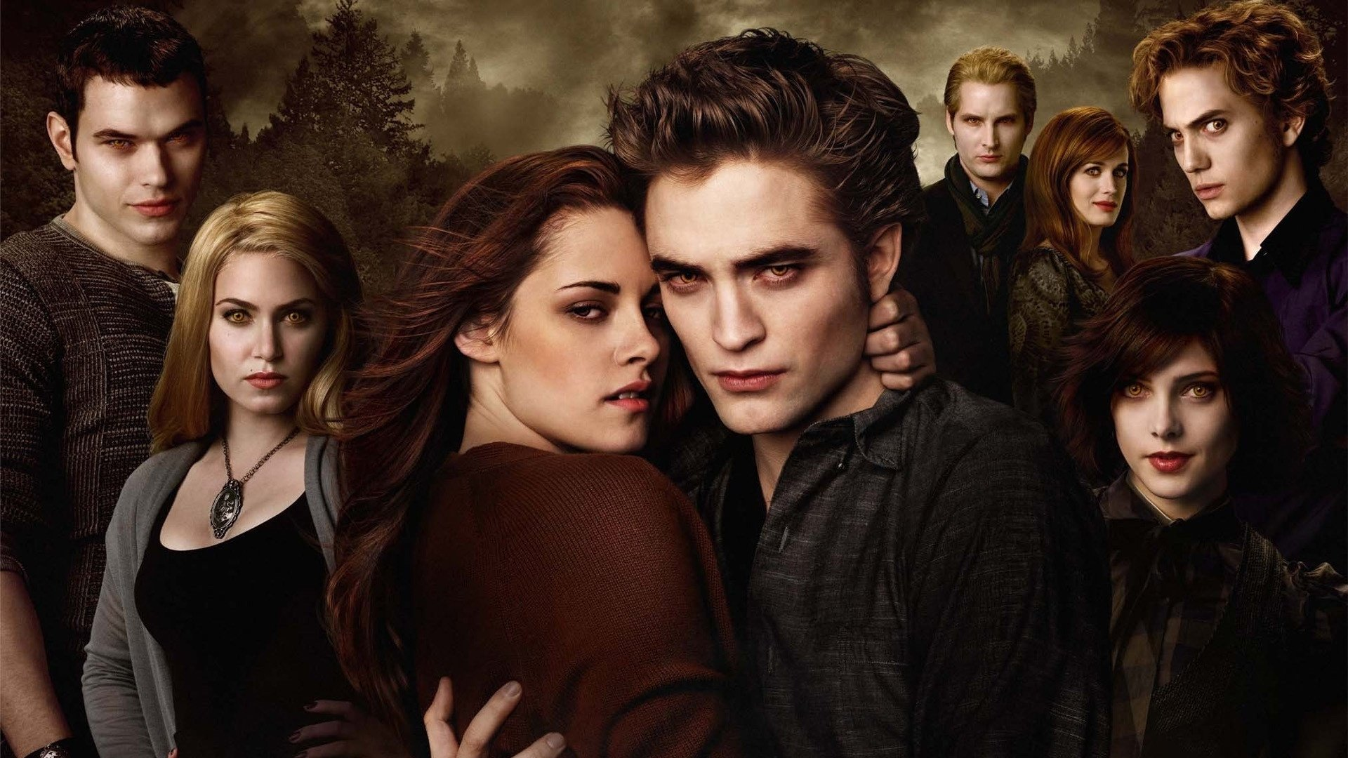 Movie - Twilight  Robert Pattinson Edward Cullen Kristen Stewart Bella Swan Wallpaper