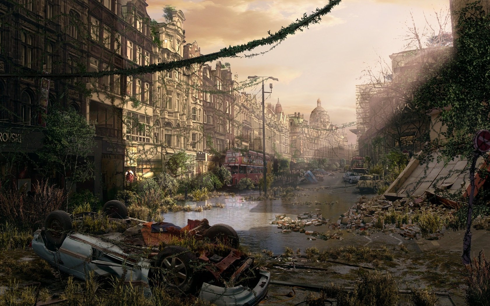 Post Apocalyptic Wallpaper And Background Image