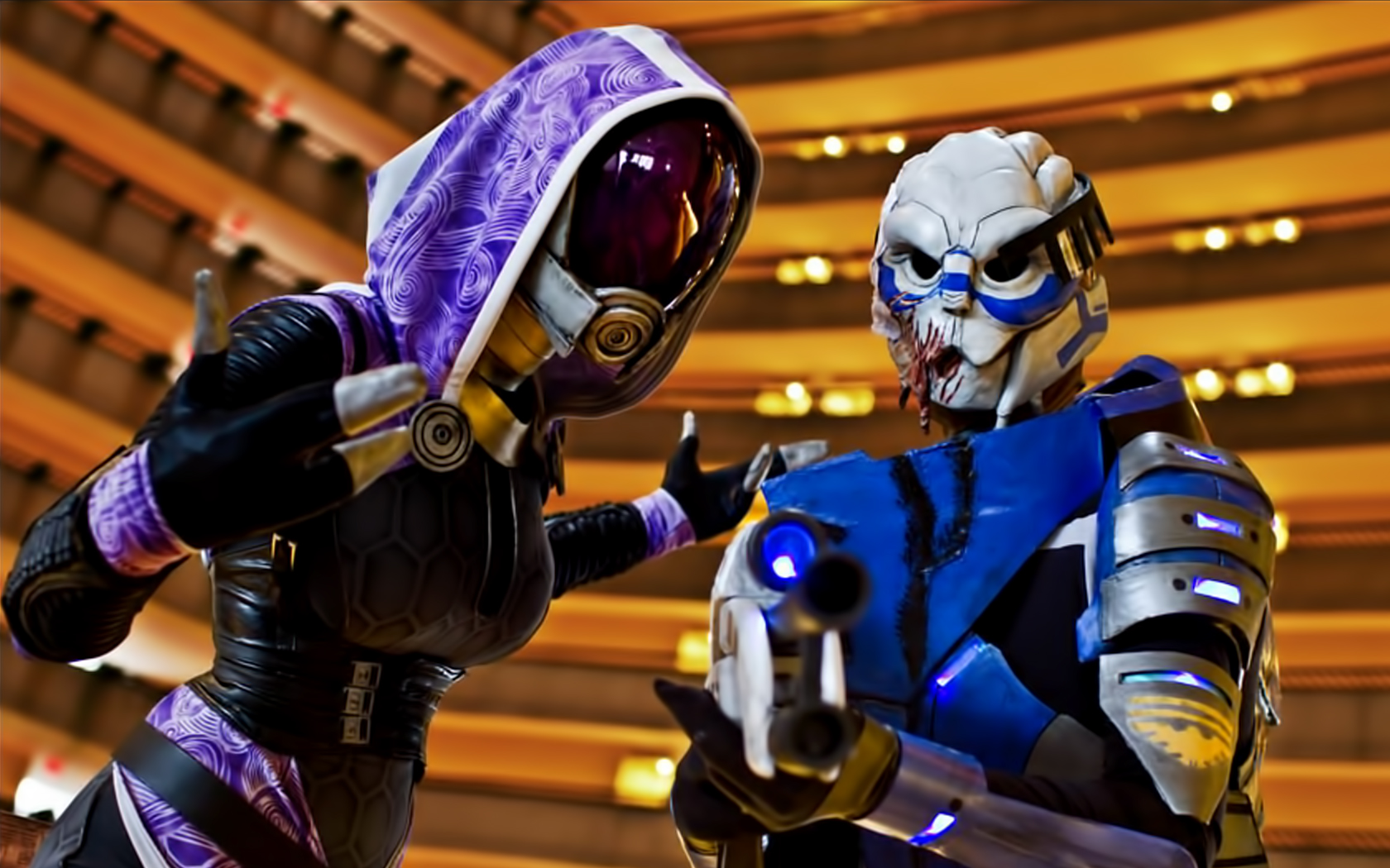 Video Game - Mass Effect  Tali'Zorah Garrus Vakarian Wallpaper