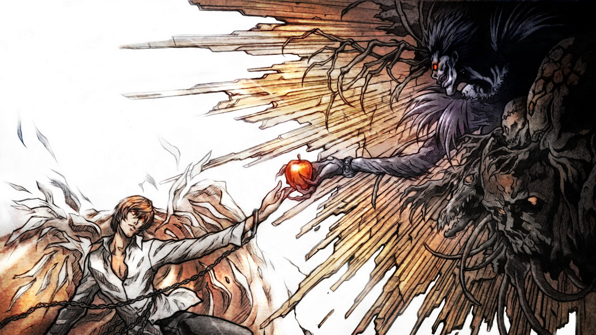 Light Yagami And Ryuk Death Note HD Wallpaper