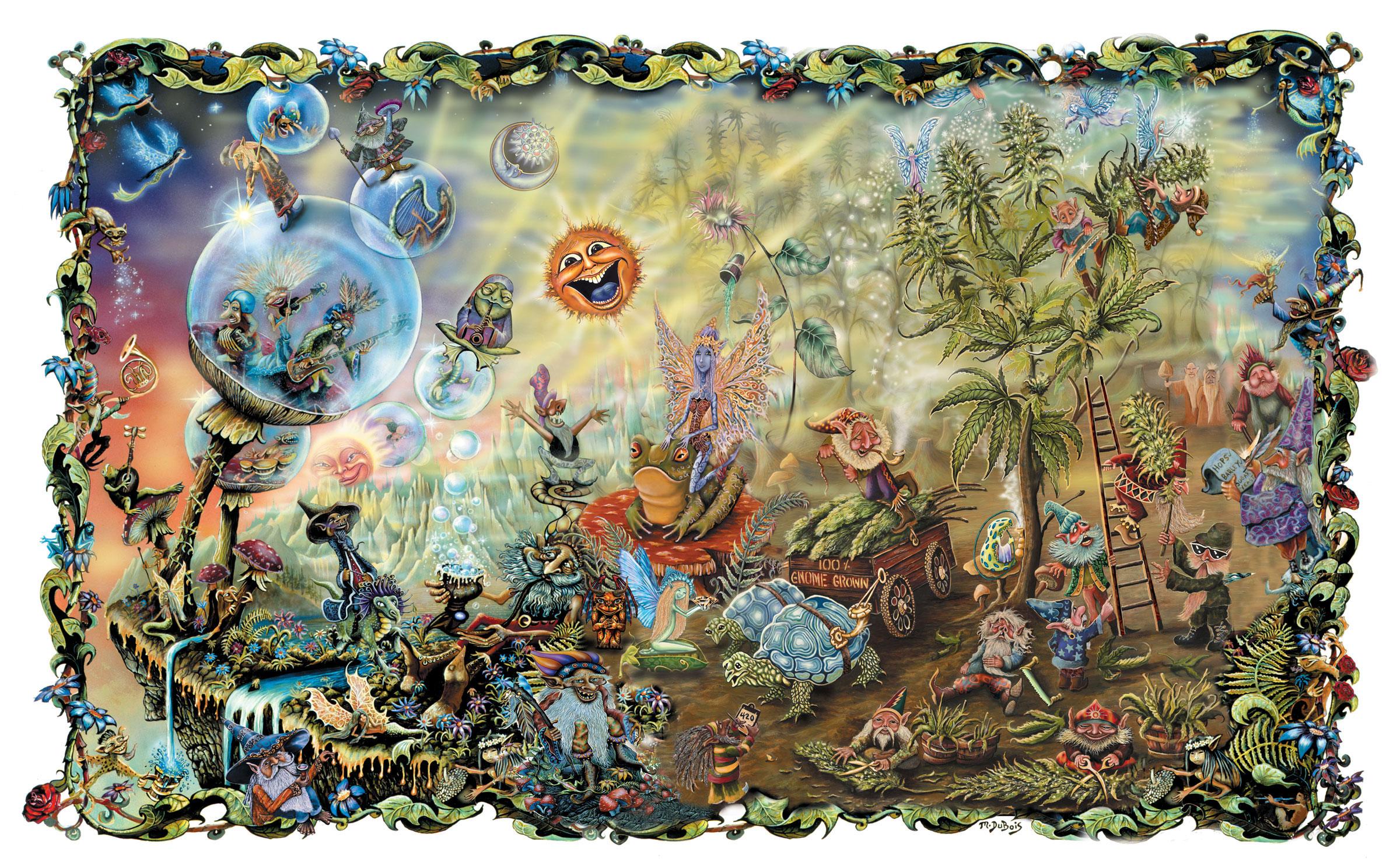 fairy garden white wallpaper - photo #36