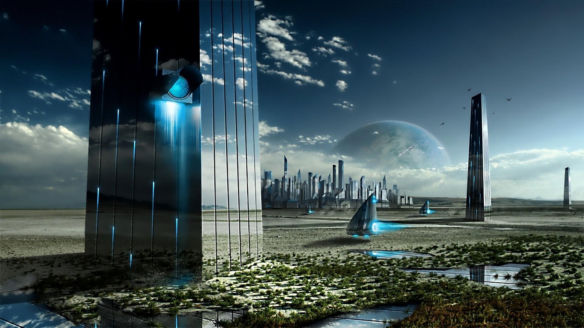 Sci Fi - City  Future Futuristic Wallpaper