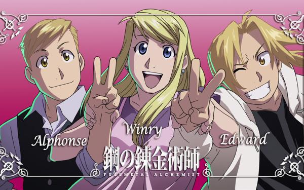 Anime FullMetal Alchemist Fullmetal Alchemist Edward Elric Alphonse Elric Winry Rockbell HD Wallpaper   Background Image