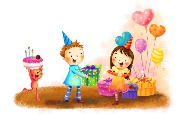 Holiday Birthday Balloon Teddy Bear Child Gift HD Wallpaper | Background Image