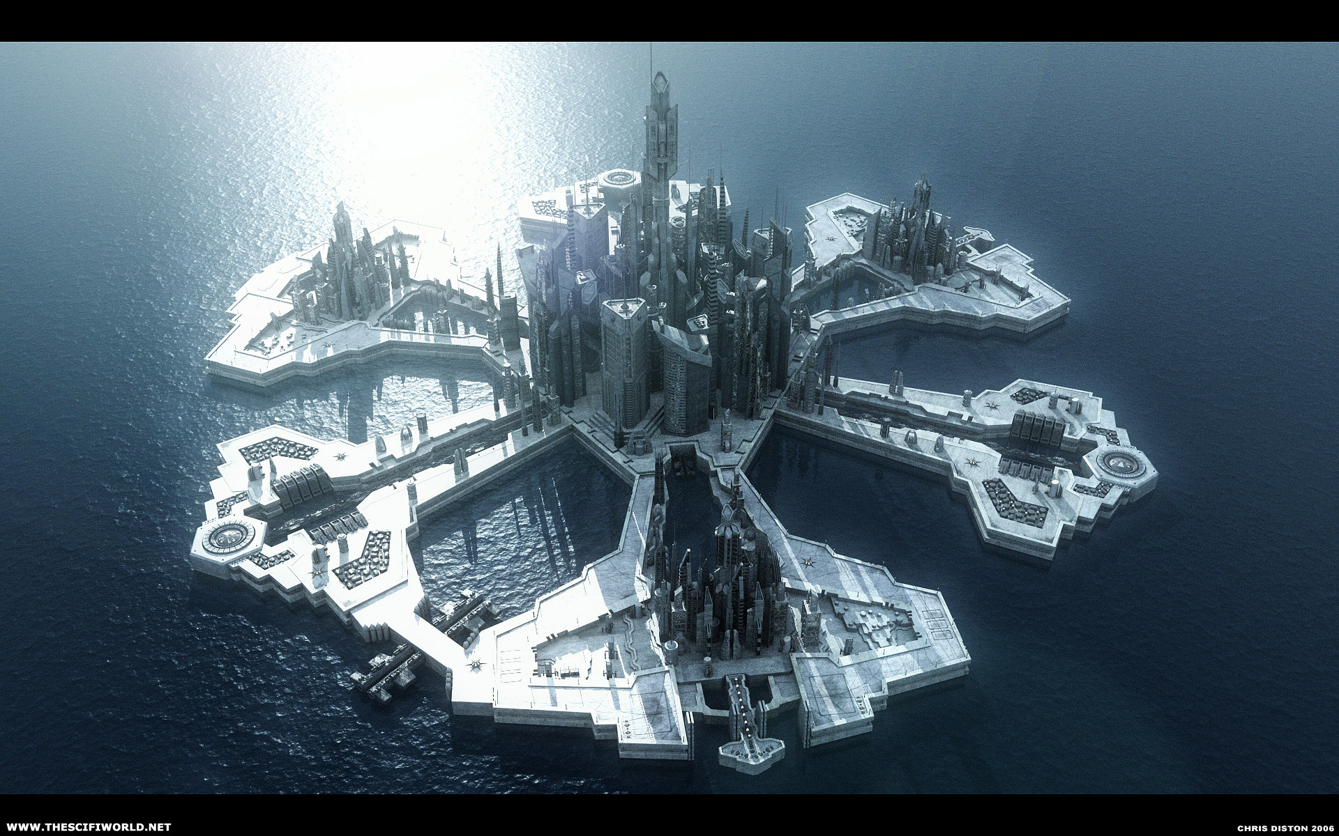 science fiction atlantis space base - photo #1