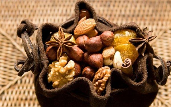 Food Nut Walnut Almond Hazelnut HD Wallpaper | Background Image