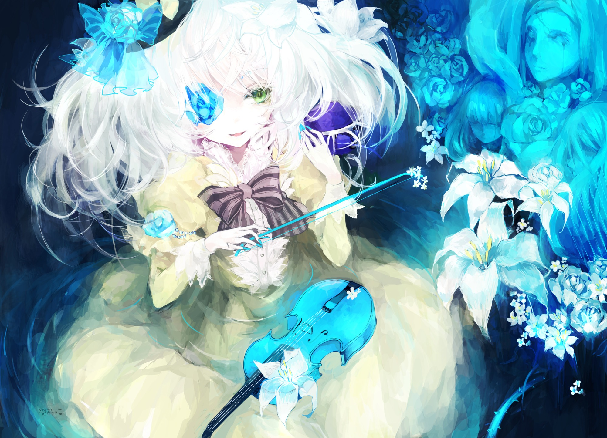 Touhou full hd wallpaper and background image 2000x1444 - Anime blue girl wallpaper ...