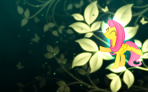TV Show My Little Pony: Friendship is Magic My Little Pony Fluttershy Leaf Black Vector HD Wallpaper | Background Image