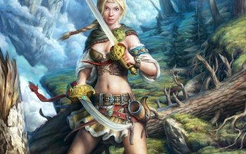 Fantasy - Women Warrior Wallpapers and Backgrounds ID : 225256