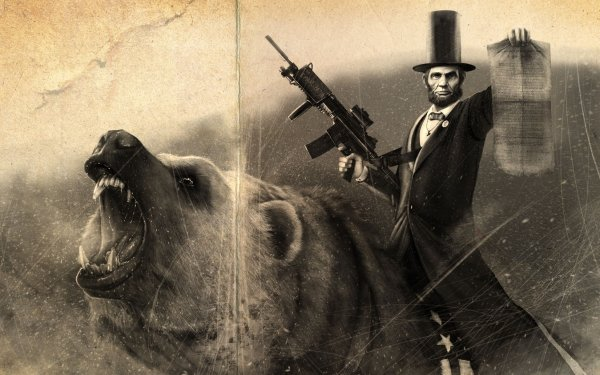 Artistic Abraham lincoln HD Wallpaper | Background Image