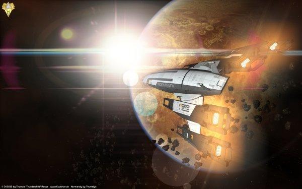 Video Game Mass Effect 3 Mass Effect Space Sci Fi Normandy SR-2 HD Wallpaper   Background Image