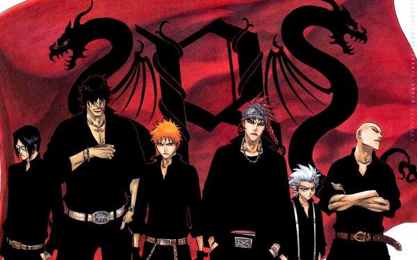 Anime Bleach Ichigo Kurosaki Renji Abarai Tōshirō Hitsugaya Ikkaku Madarame Uryu Ishida Yasutora Sado HD Wallpaper | Background Image
