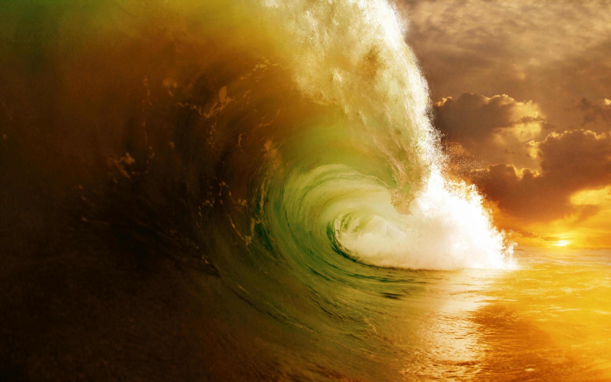 Earth - Wave  Wallpaper