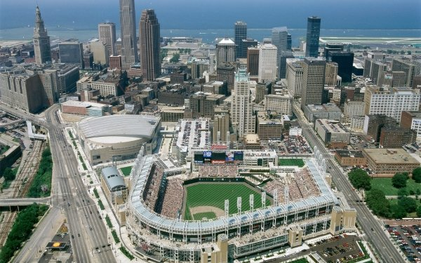 Man Made Cleveland Cities United States Ohio Progressive Field HD Wallpaper   Background Image