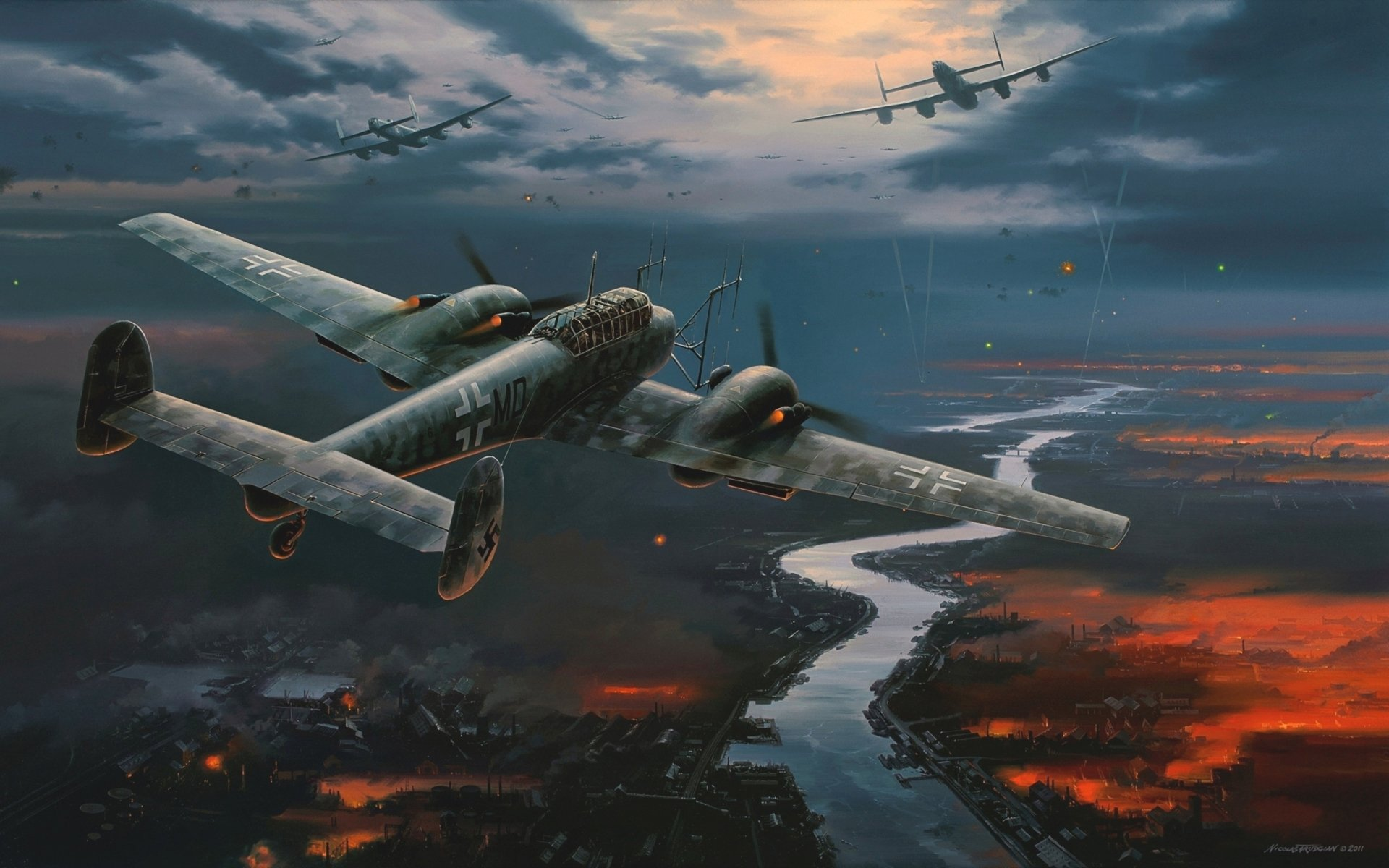 Military - Messerschmitt Bf 110  Wallpaper