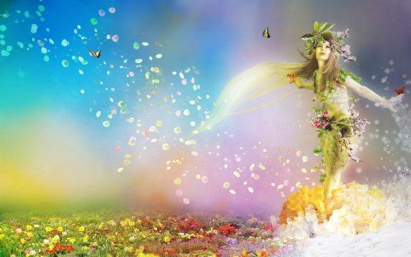 Fantaisie Femmes Pastel Rose Jardin Fleur Magical Fond d'écran HD | Image