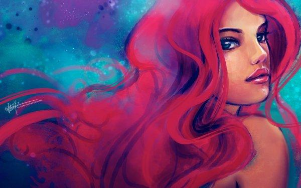 Películas La Sirenita (1989) La Sirenita Ariel Sirena Red Hair Fondo de pantalla HD   Fondo de Escritorio