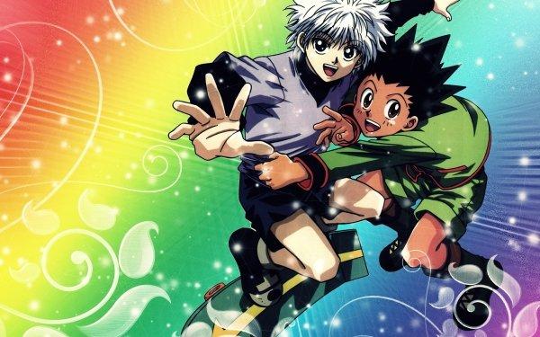 Anime Hunter x Hunter Gon Freecss Killua Zoldyck Arco iris Fondo de pantalla HD | Fondo de Escritorio