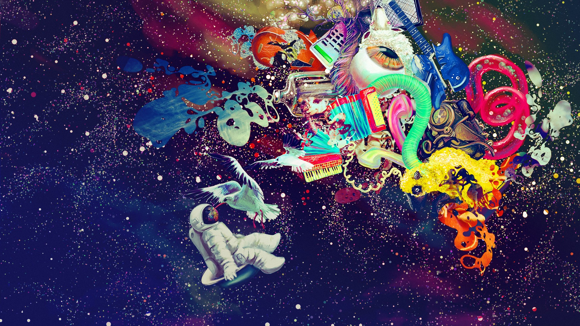 astronaut trippy weed wallpaper - photo #10