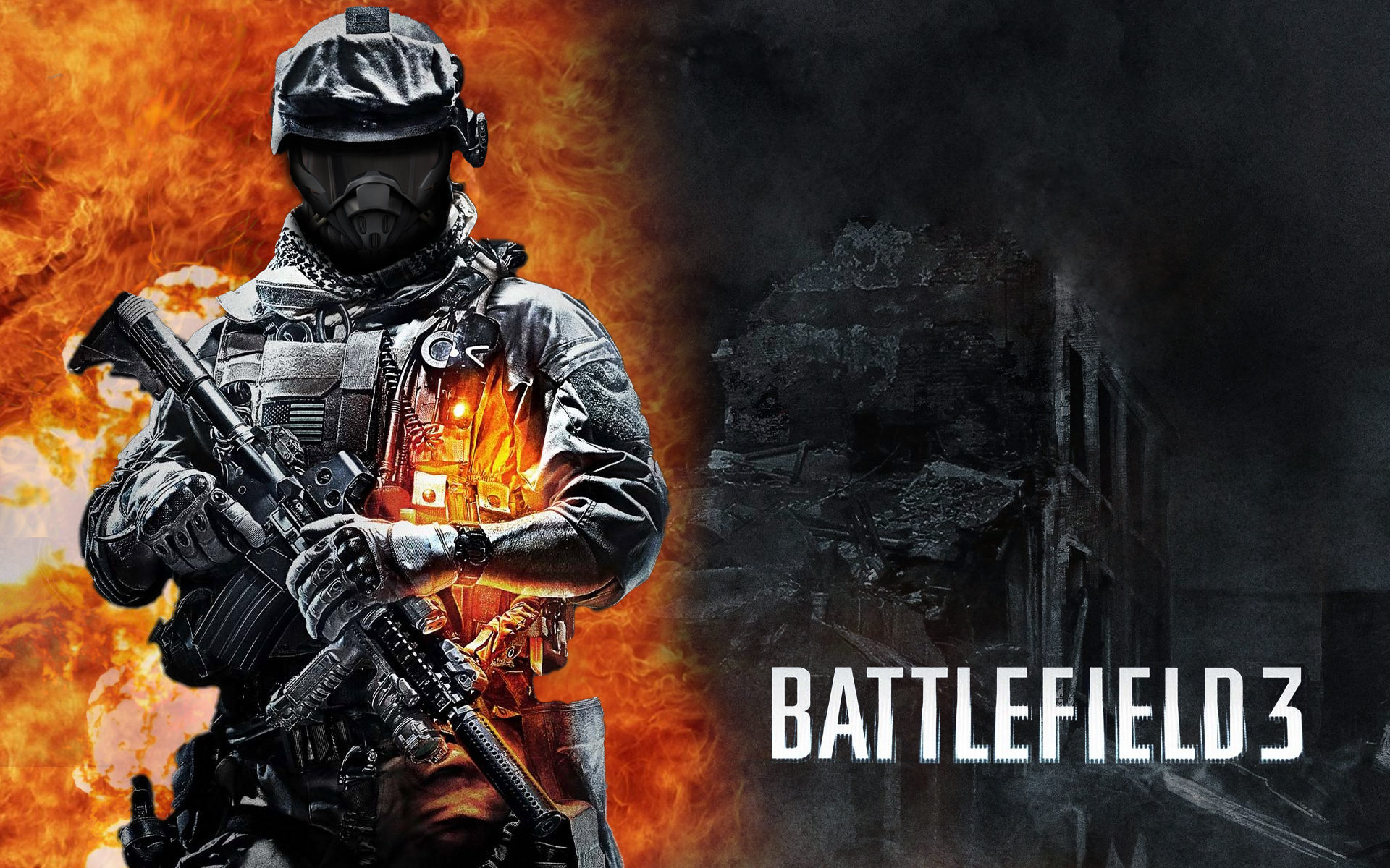 Videogioco - Battlefield 3 - Battlefield - Flames - Gun Sfondi