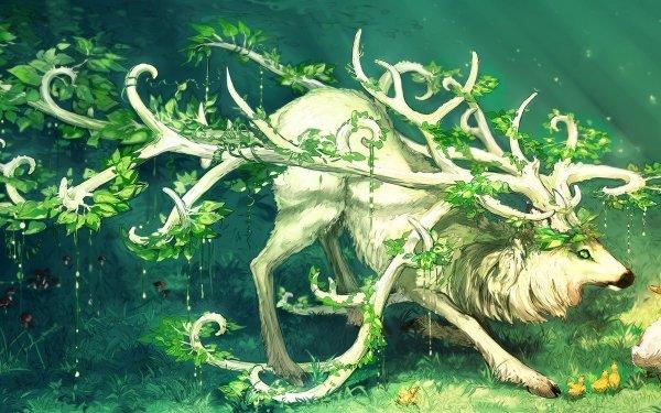 Fantaisie Cerf Animaux Fantastique Fond d'écran HD   Arrière-Plan