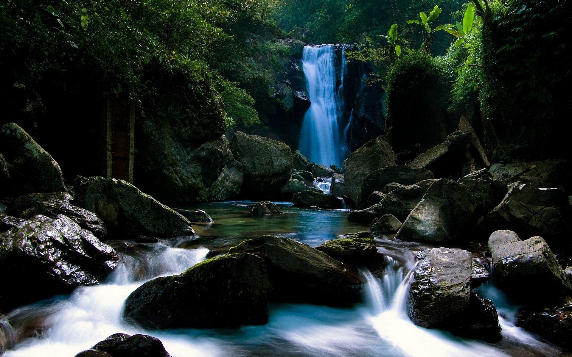 Tierra/Naturaleza - Cascada  Naturaleza Rock Chorro Agua Fondo de Pantalla