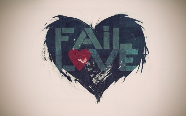 Artistic Love Fail Heart HD Wallpaper | Background Image