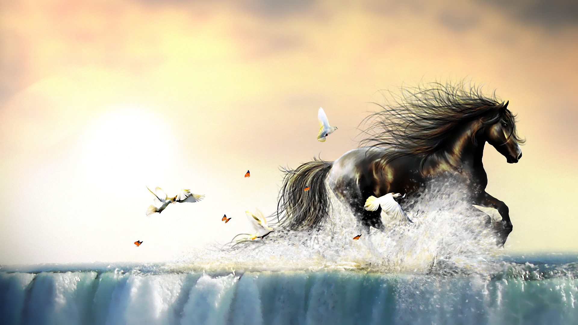 Beautiful Horse Full HD Wallpaper And Background Image