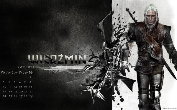 Video Game The Witcher Calendar HD Wallpaper | Background Image