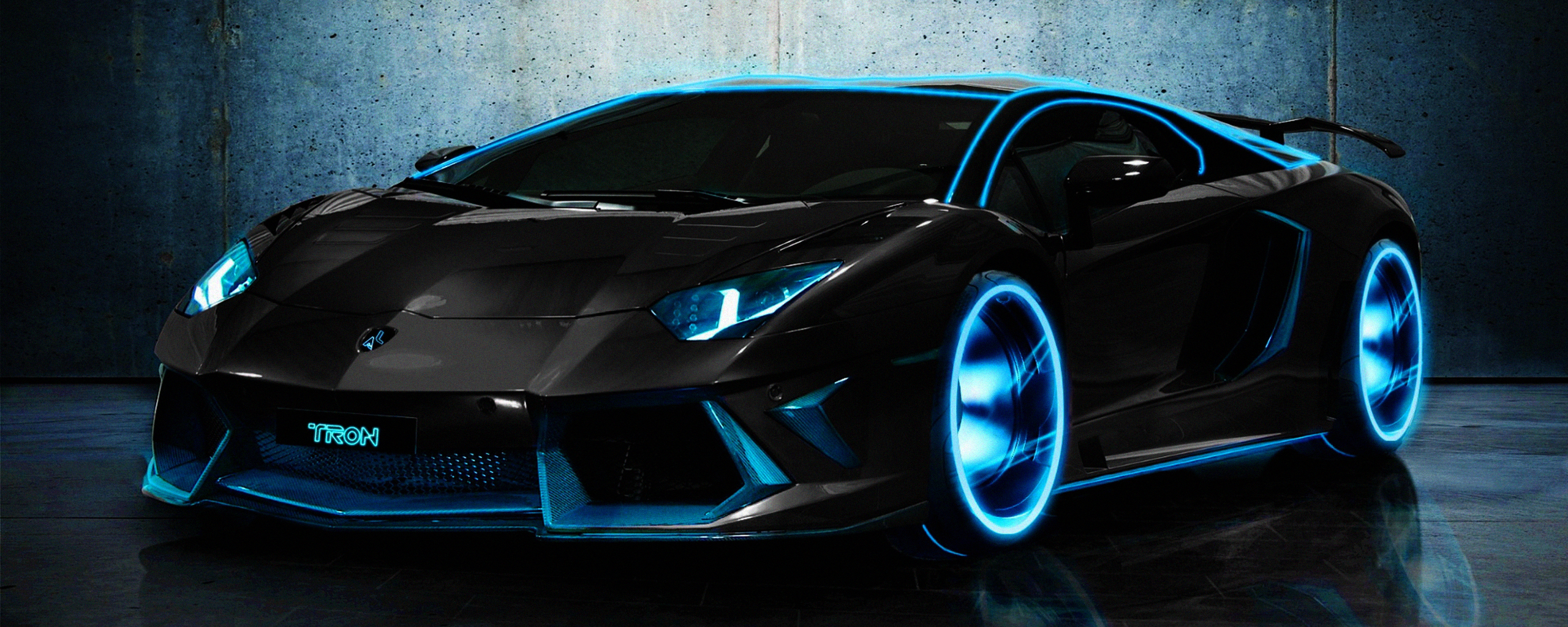 Lamborghini Tron Wallpaper And Background Image