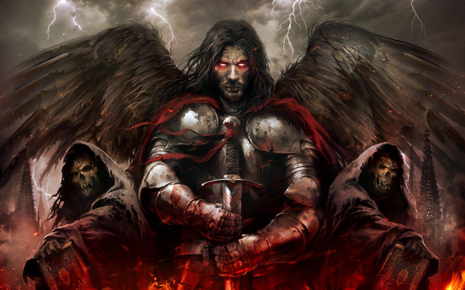 Dark - Angel  Fallen Angel Death Wallpaper