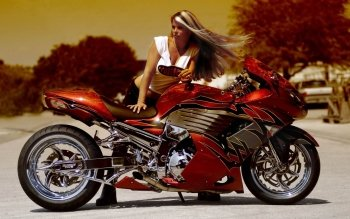 Vehicles - Girls & Motorcycles  Wallpapers and Backgrounds ID : 241544