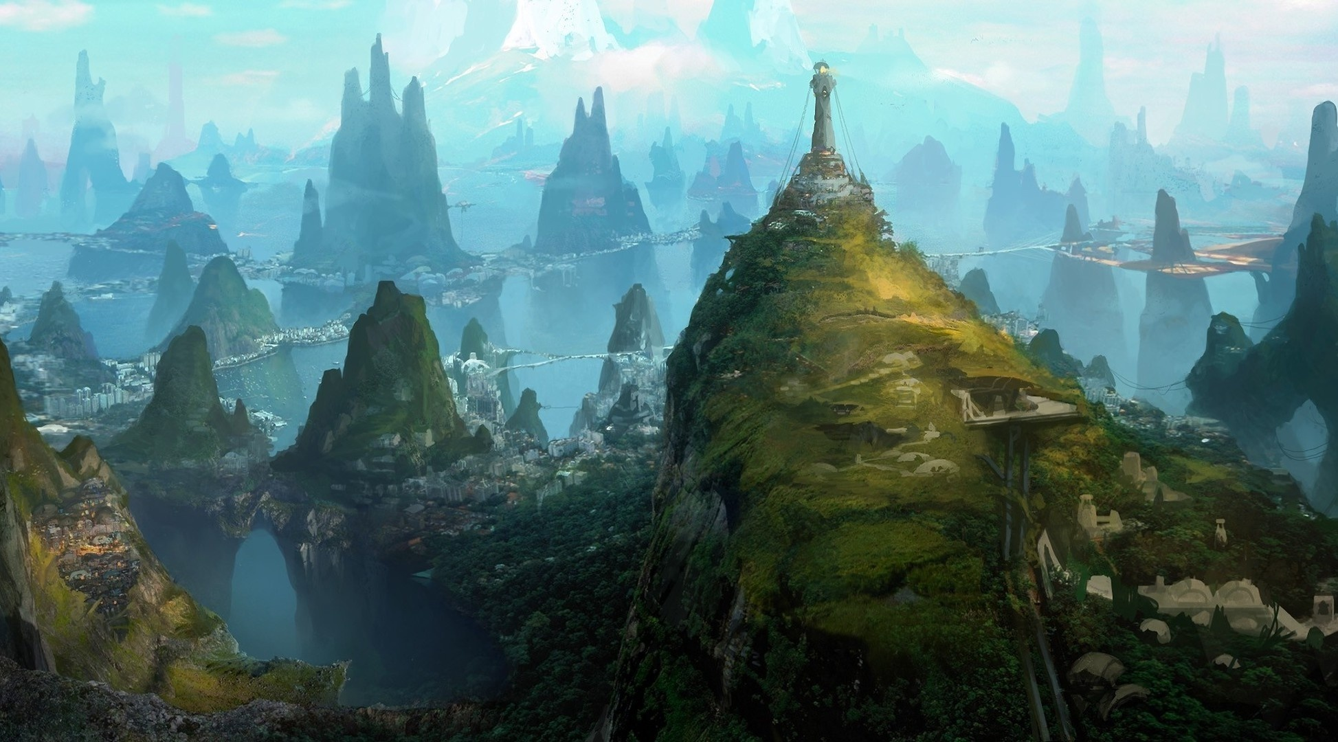Fantasy - Landscape  City Building Wallpaper