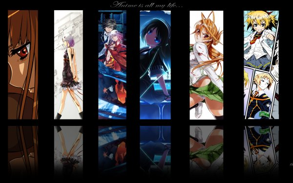 Anime Crossover Guilty Crown Medaka Box Highschool Of The Dead HD Wallpaper | Background Image