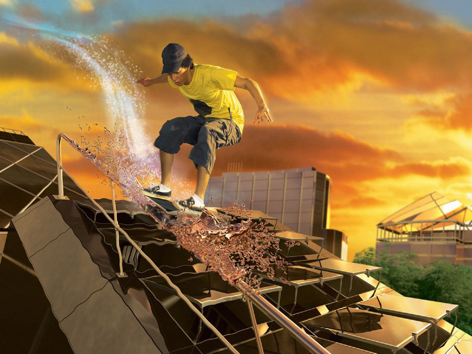 Skateboarding Wallpaper and Background Image   1600x1200 ...