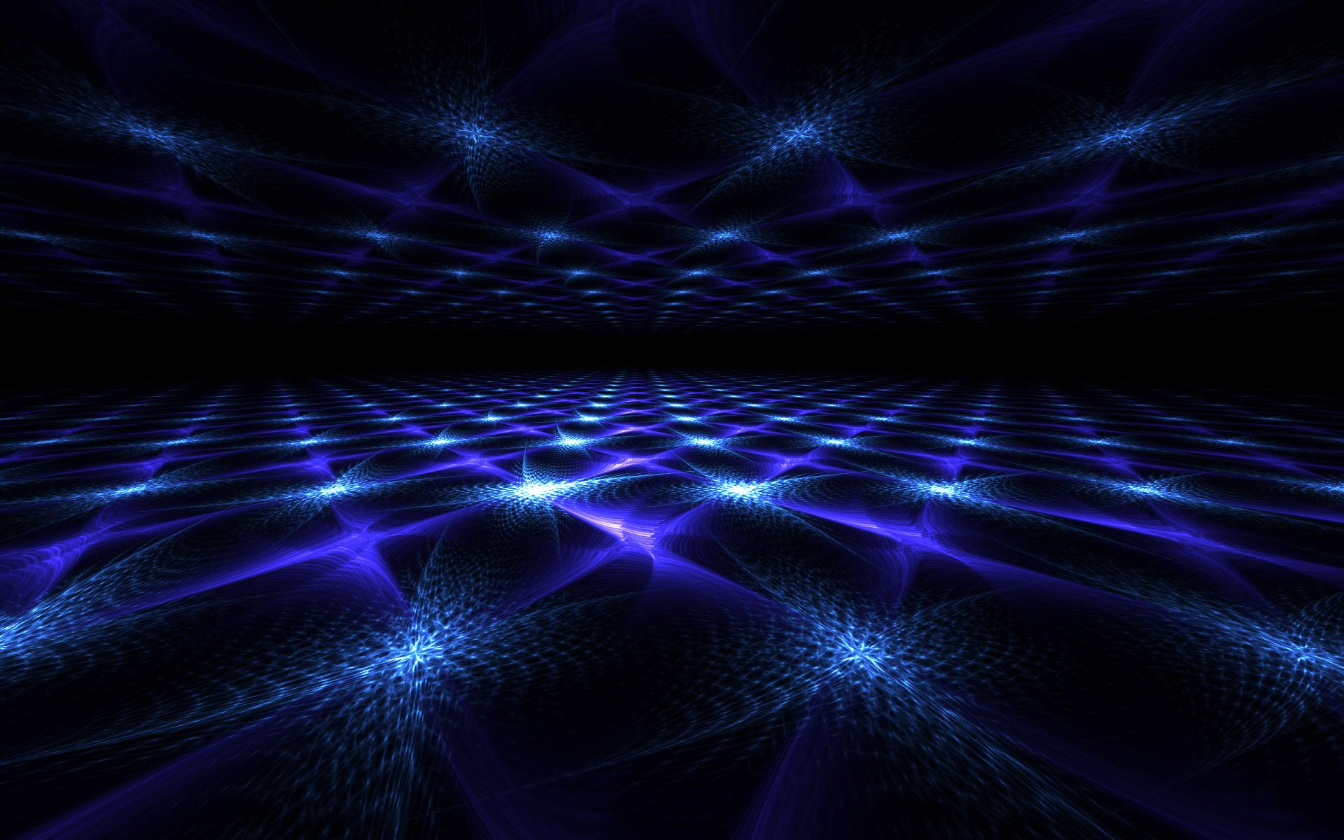 Abstract - Fractal  Blue Wallpaper