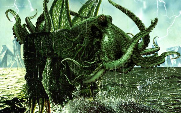Fantasy Cthulhu Octopus Creature HD Wallpaper | Background Image