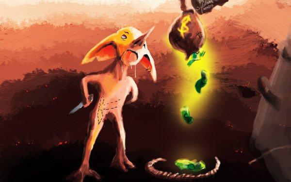 Fantasy Elf Sykol Goblin Gnome Money Battle HD Wallpaper | Background Image