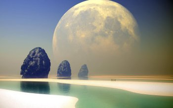Fantascienza - Planet Rise Wallpapers and Backgrounds ID : 25094